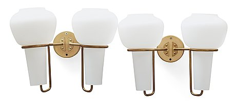 A pair of hans agne jakobsson wall lamps, markaryd sweden 1960-70's.