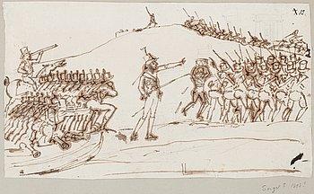 305. JOHAN TOBIAS SERGEL, tillskriven. Tuschlavering. Märkt 12.