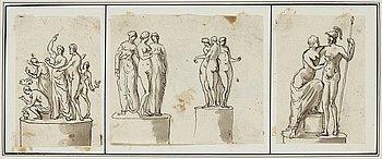 307. Elias Martin Tillskriven, Antika figurstudier.
