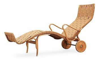 16. A Bruno Mathsson lounge chair, Firma Karl Mathsson, Värnamo, Sweden 1950's.