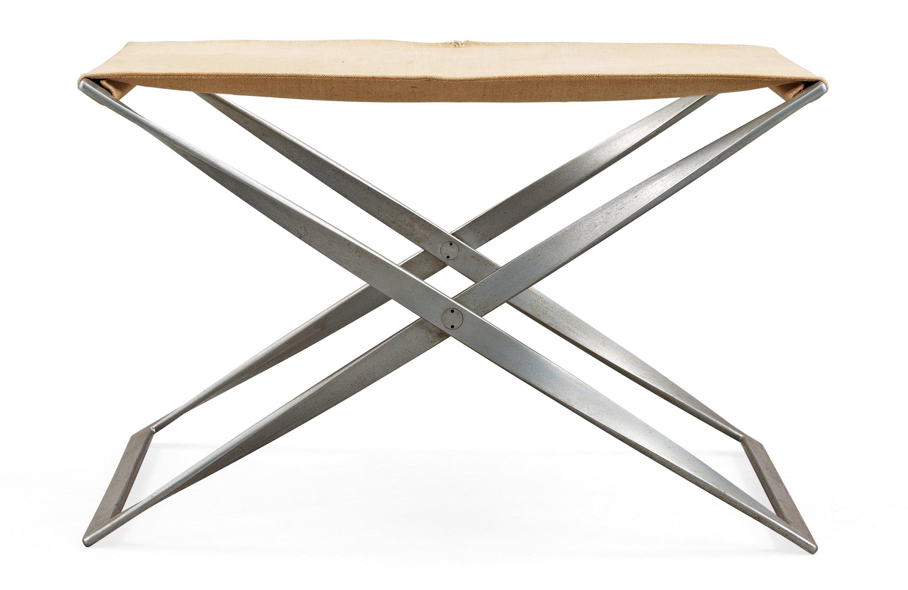 Excellent A Poul Kjaerholm Pk 91 Steel And Canvas Folding Stool E Camellatalisay Diy Chair Ideas Camellatalisaycom