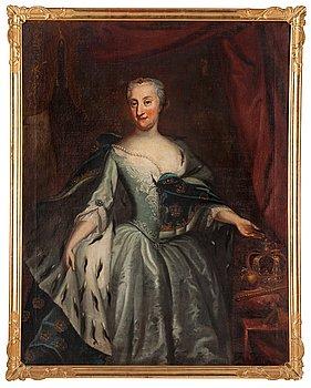 """200. Georg Engelhard Schröder, """"Ulrika Eleonora d.y."""" (1688-1741)."""