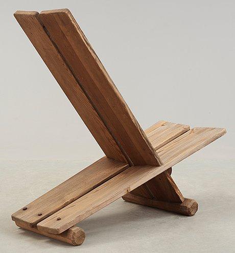 An axel einar hjorth 'utö' pine easy chair, nordiska kompaniet, 1930's.