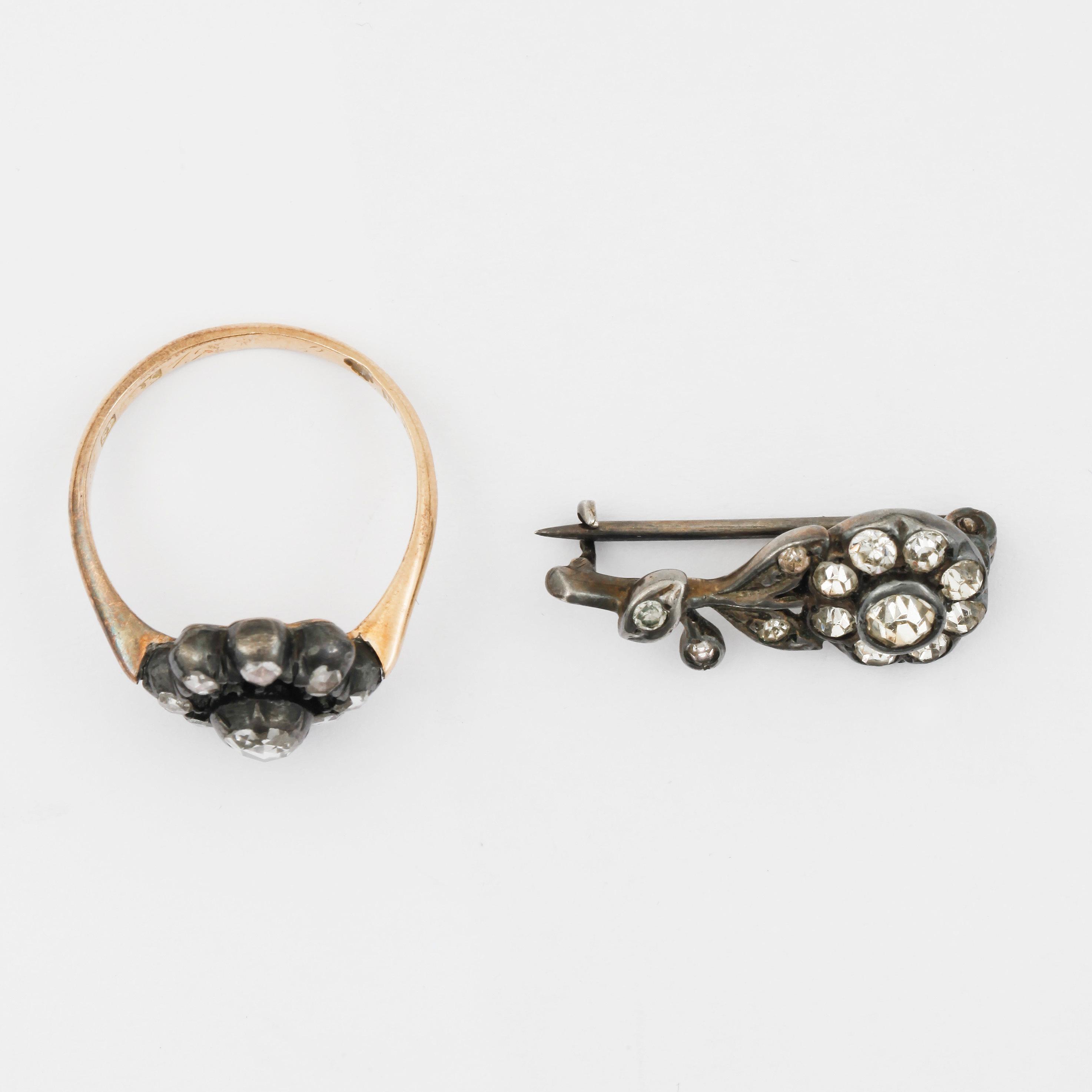 bc0d6adf96bb RING, 18K guld med gammalslipade diamanter, Sam Pettersson, Norrköping,  1916. Vikt ca 3,5g. - Bukowskis