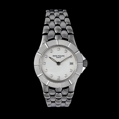 A patek philippe neptune, ladie's wristwatch. quartz, steel, ref. 4880.