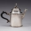 A finnish 18th century silver tea-pot, marks of carl fredrik borgström, åbo 1780.