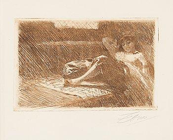 "107. Anders Zorn, ""Odalisque sleeping""."