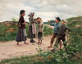 16. Fanny Brate, Teasing children.
