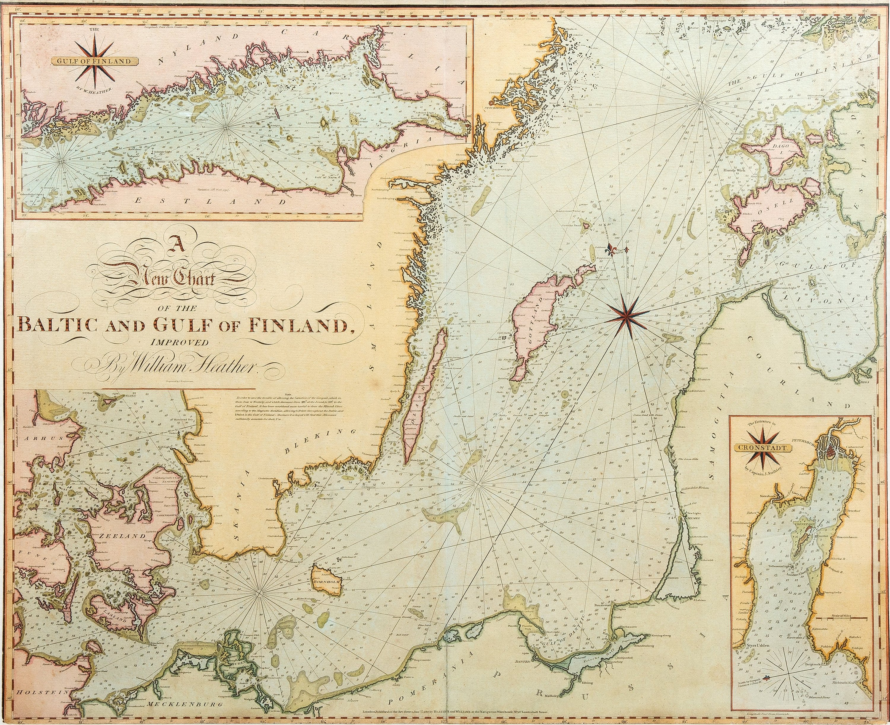 Kartta A New Chart Of The Baltic And Gulf Of Finland Improved By