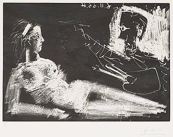 """303. Pablo Picasso, """"Le peintre et la modéle""""."""