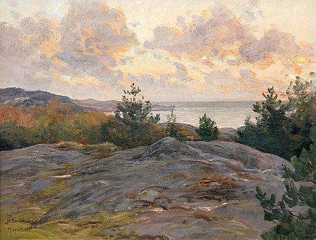 Berndt lindholm, cliffs by the shore.