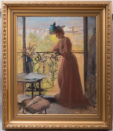 "Albert edelfelt, ""nainen parvekkeella, la parisienne""."