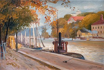 1. John Rafael Ekelund, VIEW FROM RIVER AURA.