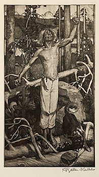 "105. Akseli Gallen-Kallela, ""Kullervo cursing"" (Kullervon kirous)."