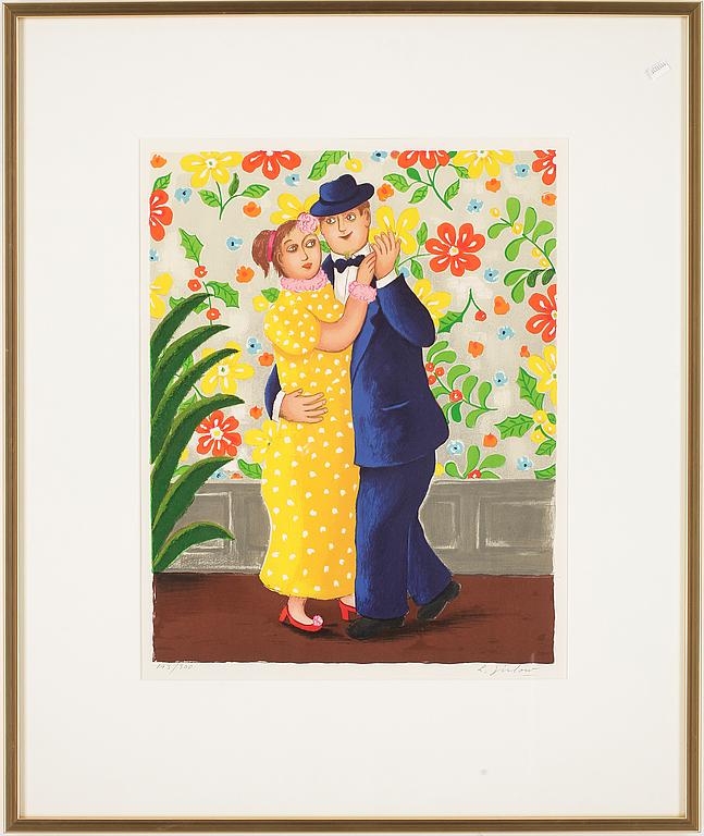 LENNART JIRLOW, färglitografi, signerad o numrerad 193/300.