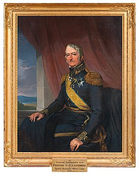 206A. Johan Gustaf Sandberg, Porträtt av Generallöjtnant Gustaf Olof Lagerbring (1769-1847).