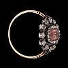 A topaz and rose-cut diamond ring. made by w.a bolin jeweller to the swedish court, stockholm 1928.
