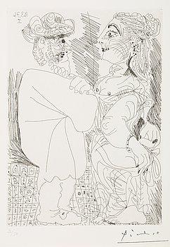 "308. Pablo Picasso, ""La seductrice"", from: ""Series 156"" (pl 70)."