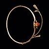 A carved coral cameo bracelet.