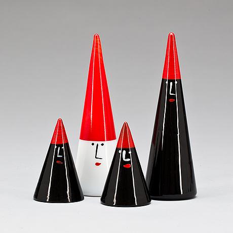 Figuriner, 2+2. glas, ingegerd råman, orrefors.