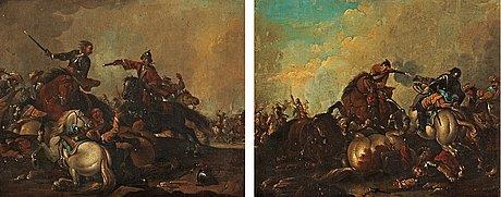 Georg philipp rugendas circle of, battle scenes (2).