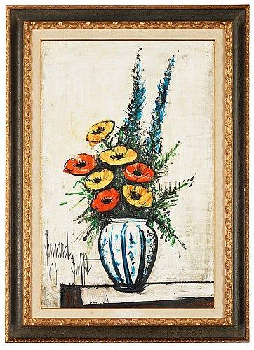 Bernard buffet, bouquet de fleurs.