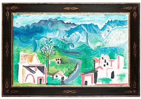 """Pablo picasso, """"paysage, méditerranéen""""."""