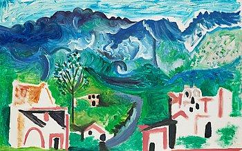 """371. Pablo Picasso, """"Paysage, Méditerranéen""""."""