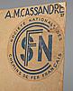 Adolphe mouron cassandre, färglitografisk affisch, signerad och daterad -35 i trycket.