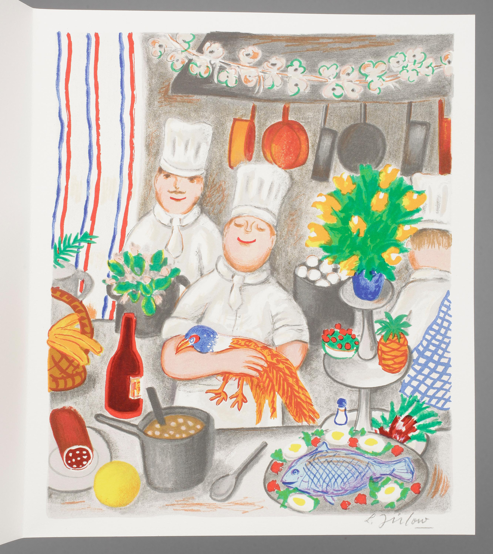 Lennart Jirlow La Cuisine De Bistrot Litografi Signerad