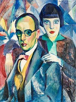316. Armand Schönberger, Self-portrait, with his daughter Vera.