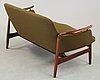 """Finn juhl, soffa """"nv-53"""", niels vodder, danmark 1960-tal."""