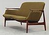 A finn juhl 'nv-53' sofa, cabinetmaker niels vodder, denmark 1960's.