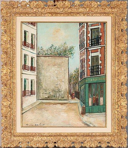 "Maurice utrillo, ""la belle gabrielle""."