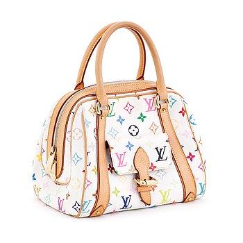"734. Louis Vuitton, LOUIS VUITTON, handväska ""Priscilla Multico Blanc M40096""."