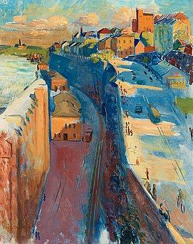 13. Isaac Grünewald, Motiv from Stockholm and Katarinavägen.