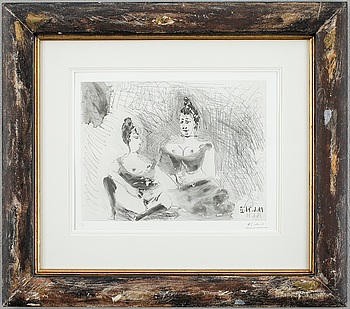 """309. Pablo Picasso, """"Repos, deux filles"""", from: """"Series 156""""."""