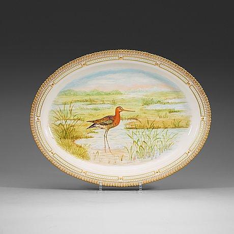 A set of three royal copenhagen 'fauna danica' plates, 20th century.