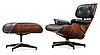A charles & ray eames 'lounge chair and ottoman', herman miller, usa.