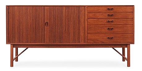 Peter hvidt & orla mølgaard-nielsen, sideboard, søborg møbler, danmark 1950-1960-tal.