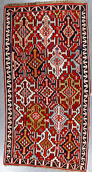 SEMI-ANTIQUE SHIRVAN KELIM, ca 305x158 cm.