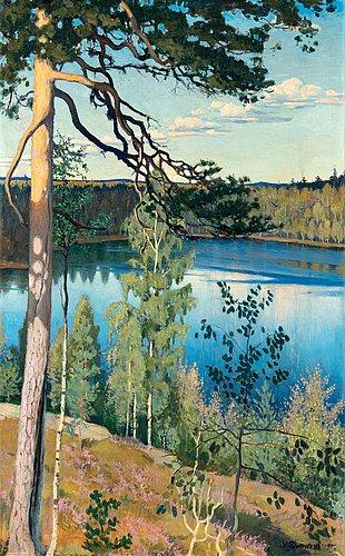"Väinö blomstedt, ""insjö i ödemarken""."