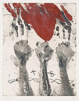 """313. Antoni Tàpies, """"Empreintes de mains""""."""
