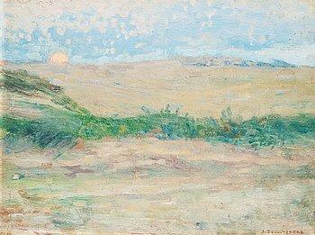 "543. Anshelm Schultzberg, ""Månuppgång, Etaples 1890""."