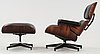 "A charles & ray eames ""lounge chair and ottoman"", herman miller, usa."