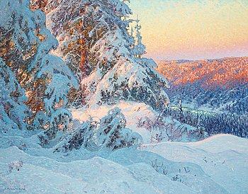540. Anshelm Schultzberg, Vinterlandskap.