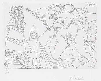 """306. Pablo Picasso, """"Raphaël et la fornarina"""", from:  """"Séries 347""""."""