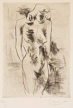 """374. Georges Braque, """"Etude de nu (Nu)""""."""