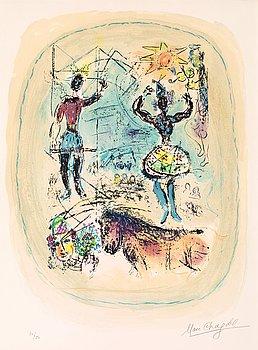 "379. Marc Chagall, ""Le cirque a l'étoile""."