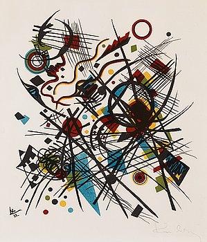 """376. Wassily Kandinsky, """"Lithographie für die vierte Bauhausmappe""""."""